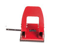Red office hole puncher isolated on a white background Royalty Free Stock Photography