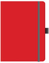 Red office note pad