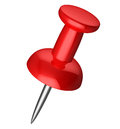Red pushpin Royalty Free Stock Photo