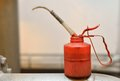 Red oil Can Royalty Free Stock Photo