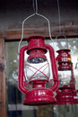 Red oil lamp Royalty Free Stock Photo