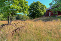 Red old farmhouse in Finland Royalty Free Stock Images