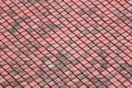 Red old tiles roof in the temple of thailand Stock Image