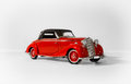 Red old beautiful classic vintage car Royalty Free Stock Photo