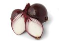 Red onion over on white background. Royalty Free Stock Photo