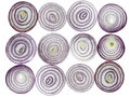 Red Onion Slices Stock Photos
