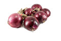 Red onions isolated on white Stock Photos