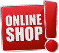 Red online shop button Royalty Free Stock Photo