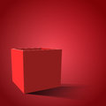 Red open box with realistic shadows.  illustration eps 10 Royalty Free Stock Photo