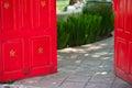 Red open door Royalty Free Stock Photo