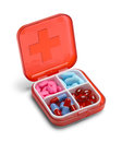 Red Open Pill Box Royalty Free Stock Photo