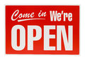 Red Open Sign Royalty Free Stock Photo