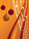 Red and orange christmas background Stock Photo