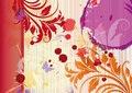 Red and orange floral background Royalty Free Stock Photos