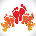 Red-orange foot  background Stock Images