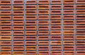 Red or orange square brick wall, block brick wall texture backgr Royalty Free Stock Photo