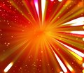Red orange and yellow background with fireworks burst from the center Royalty Free Stock Photo