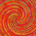 Red orange yellow green swirl spiral pattern texture Royalty Free Stock Photo