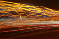 Red, orange and yellow moving lights Royalty Free Stock Photography