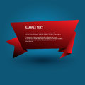 Red origami banner vector background Royalty Free Stock Photos