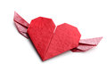 Red origami heart Stock Images