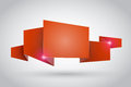 Red origami ribbon Stock Image