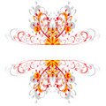 Red ornament borders Royalty Free Stock Photography