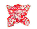 Red ornament silk scarf Royalty Free Stock Photography