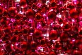 Red Ornaments and Glittery Lights of Christmas Decoration Royalty Free Stock Photo