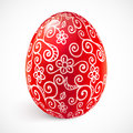 Red ornate vector easter egg Stock Images
