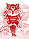 Red owl wonderfully detailed and original vector can be modified to any color or size to suit your needs Stock Photos