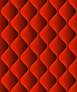 Red padded upholstery seamless pattern texture. EPS 10 vector