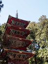 Red pagoda at world heritage site nikko japan old in the Royalty Free Stock Photo