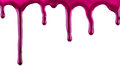 Red paint blots Stock Photos