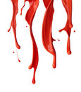 Red paint drip