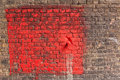 Red painted brick wall background Royalty Free Stock Photo