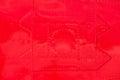 Red painted riveted metal airplane fuselage skin Royalty Free Stock Photo