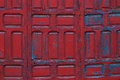 Red painted wooden door frame detail background Royalty Free Stock Photo