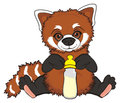 Red panda with bottle