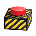 Red Panic Button Sign Vector. Red Alarm Shiny Button Illustration Royalty Free Stock Photo
