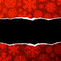 Red paper background christmas snowflakes Royalty Free Stock Image