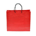 Red paper bag Stock Images