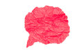 Red paper bubble on white background Royalty Free Stock Photo