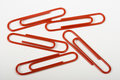 Red Paper Clips Royalty Free Stock Images