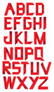 Red Paper Folding font Stock Photo