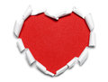 Red paper heart Royalty Free Stock Photo