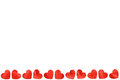 Red paper Hearts On White Background For Valentines Day