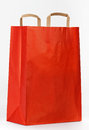 Red paper shopping bag. Royalty Free Stock Photography