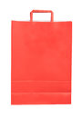 Red paper shopping bag isolated on white background Royalty Free Stock Images