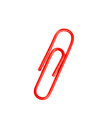 Red paperclip isolated on a white background Royalty Free Stock Photo